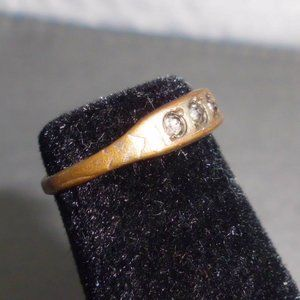 "Vintage Jewelry - Antique Estate Fresh Gold Tone ""Checo"" Ring"